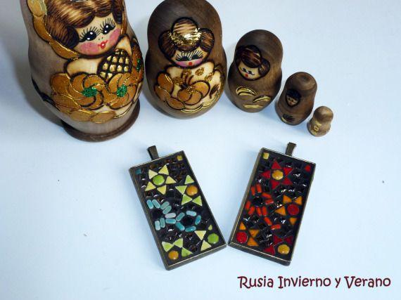 Colgantes Rusia Invierno y Verano / Maruchi Balao Mosaico & Art* - Artesanio