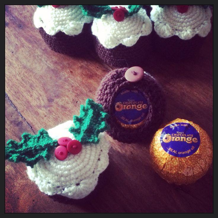 #Crochet #Christmas Pudding Chocolate Orange Cosies