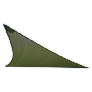 EarthCo Shade Sails 12 ft. Deep Green Triangle Patio Shade Sail with Mounting Hardware-013 at The Home Depot
