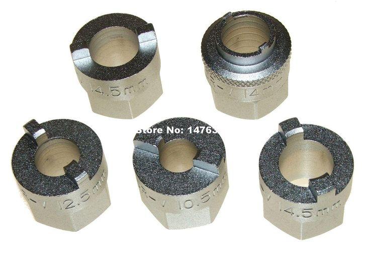 Car Suspension Damper Shaft Strut Nut Removal Tool Set For AUDI VW Mercedes W203 W209 10.5/12.5/14/14.5mm AT2158