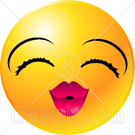 Emotion Clip Art | 22134-Clipart-Illustration-Of-A-Yellow-Emoticon-Face-Lady-With ...