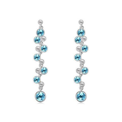 Crystal Chandelier earrings Blue – Pink Hippo Store