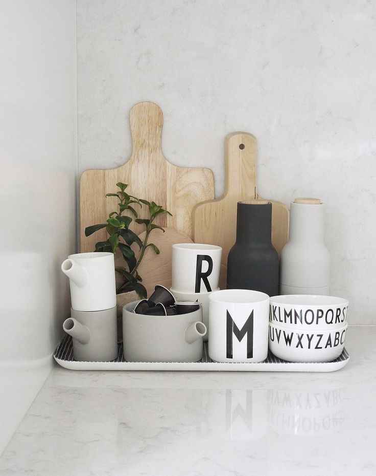 Gray and wood. Coffee clutter The Design Chaser: This Week | At Home