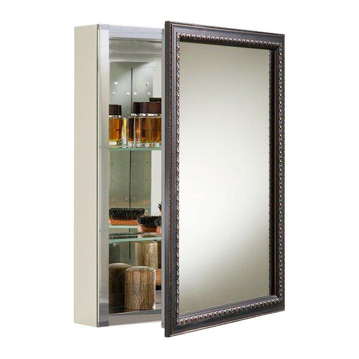 Recessed Or Surface Mount Framed 1 Door Medicine Cabinet With 2 Adjustable Shelves Adjustable Shelving Diy Bathroom Decor Bathroom Shelf Decor