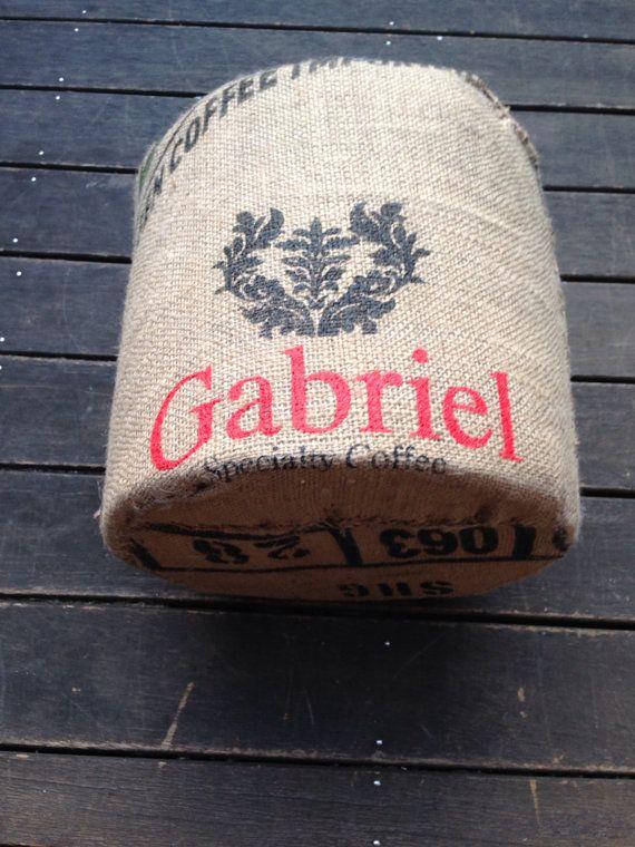 Upcycled Coffee Bag Ottoman - 'Zephyr' on Etsy, $69.00 AUD