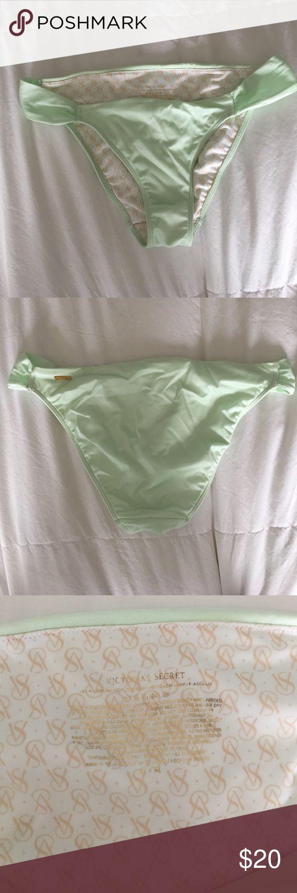 VS bikini bottoms VS (not PINK) foam green bikini bottoms, medium coverage, size M, worn twice PINK Victoria's Secret Swim