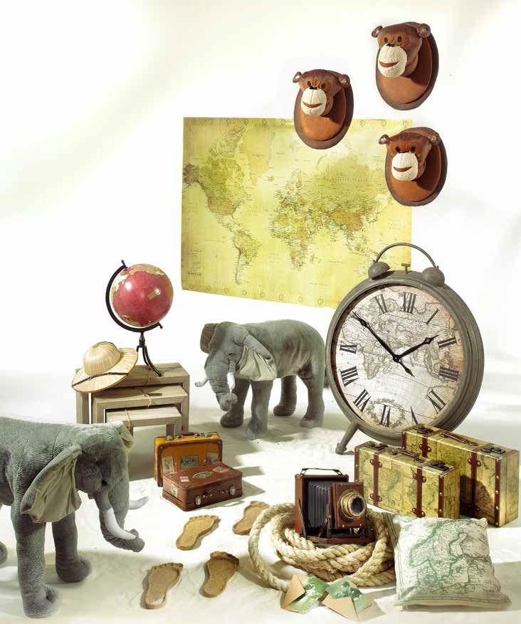 """Esploriamo il """"caldo"""" mondo: valigie, orologi, mappamondi, elefanti e scimmie (Travel Explorer)"""