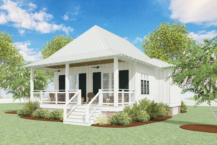 Plan 130034lls Schoner Strand Cottage Plan Mit Schlafraum Beach Cottage House Plans Cottage Plan Small Beach Houses