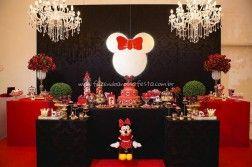 Mesa dos Doces Festa Minnie Vermelha da Maria Clara