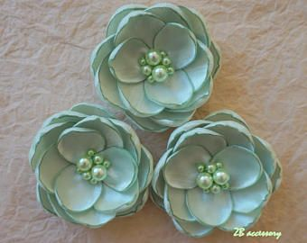 Avorio fiore fiore di menta verde fiore in handmade Bridal
