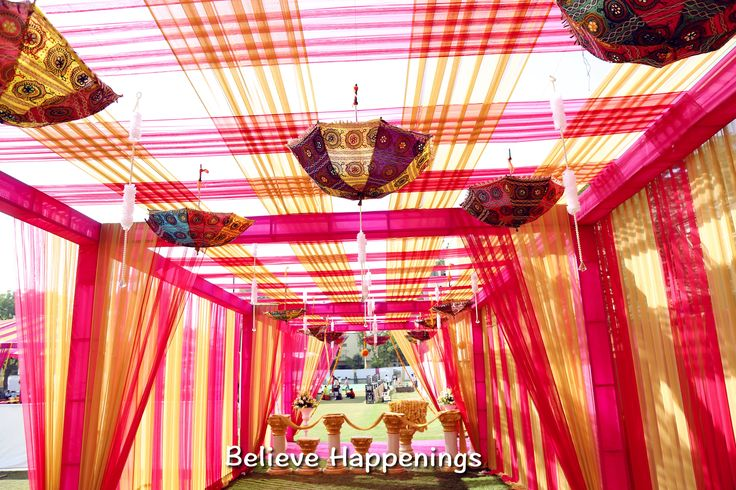 Rajasthani theme wedding decor.