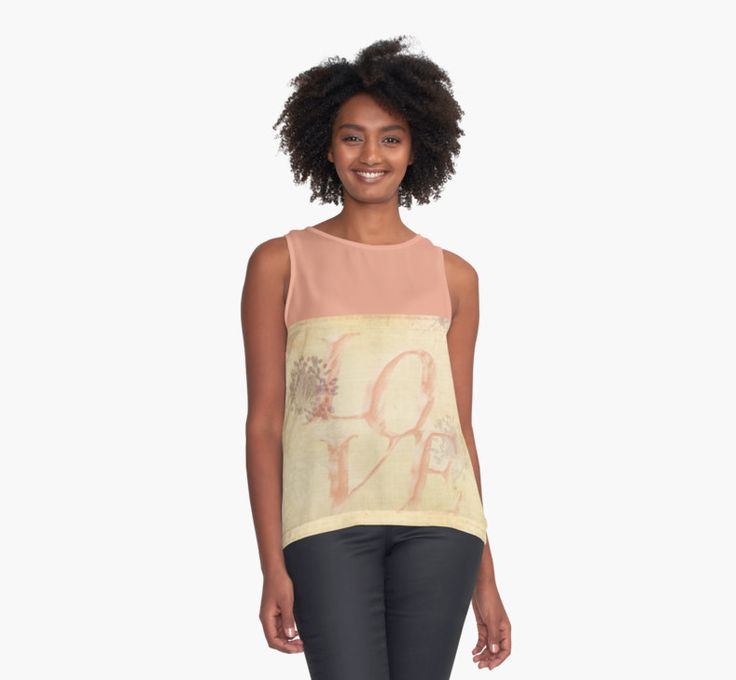 """""""Vintage Love"""" by Caitlyn Grasso. Contrast Tank #top #love"""