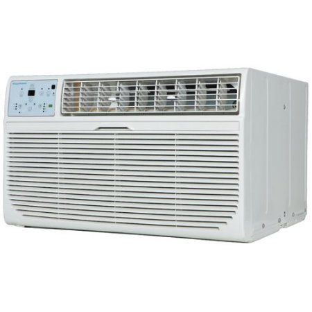 Keystone 14,000-BTU 230V Through-the-Wall Air Conditioner with Follow Me LCD Remote Control, White