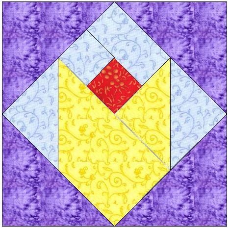 tulip quilt block pattern | ALL STITCHES - DUTCH TULIP PAPER PIECING QUILT BLOCK PATTERN PDF -010A ...