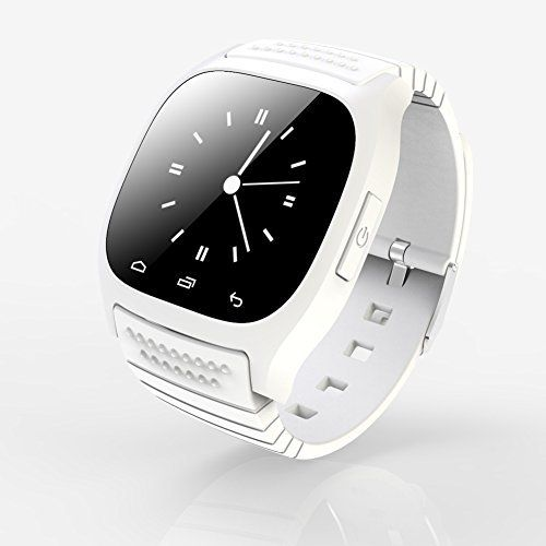 Qkking NEW Fashion Smart Bluetooth Watch M26 with LED display / Dial / SMS Reminding / Music Player / Pedometer for Mobile Phone-WHITE. 1.FOR IOS iPhone Users please note that the watch only support: Barometer, Pedometer, Altimeter, Calendar, Call Sync(Phonebook, dialer, Call log),Calculator,Clock,Stopwatch, Music. 2.SPECIAL FEARURES: Thermometer, Call Answer, Week, Altimeter, SMS Reminding, Pedometer, Phone book, Stopwatch, Music Player, Date, Alarm clock, Anti-lost alert, Dial…
