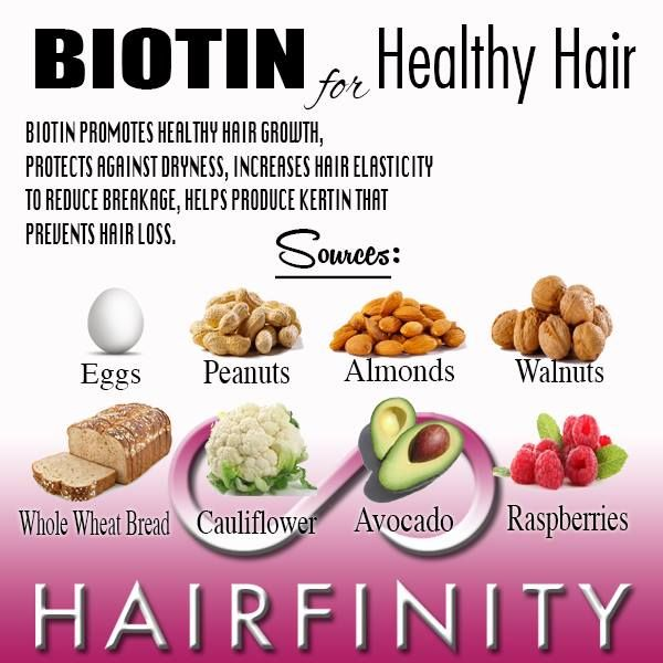 Foods for Healthy Hair: 5 Secrets for Longer, Thicker Hair:Hairfinity hair vitamins contains Biotin plus many other nutrients specifically for healthy hair growth.  http://hairfinity.com/blog/foods-for-healthy-hair/