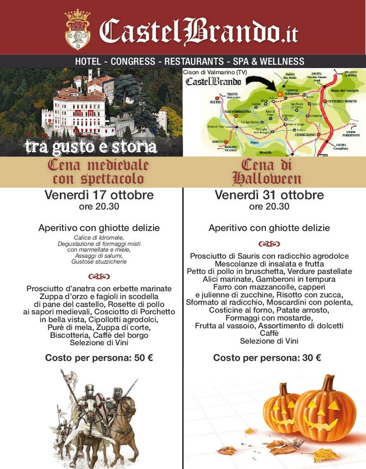 Save The Date! #halloween #cenamedievale #eventi #CastelBrando