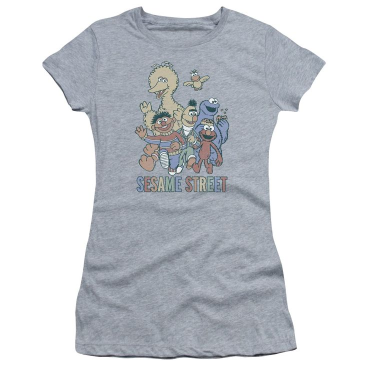 """Checkout our #LicensedGear products FREE SHIPPING + 10% OFF Coupon Code """"Official"""" Sesame Street / Colorful Group-hbo Short Sleeve Junior Sheer-athletic Heather-sm - Sesame Street / Colorful Group-hbo Short Sleeve Junior Sheer-athletic Heather-sm - Price: $34.99. Buy now at https://officiallylicensedgear.com/sesame-street-colorful-group-hbo-short-sleeve-junior-sheer-athletic-heather-sm"""