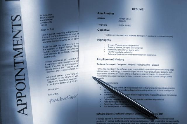 The difference between a resume and a cover letter, what is included in each, the purpose of a cover letter, and examples to review.