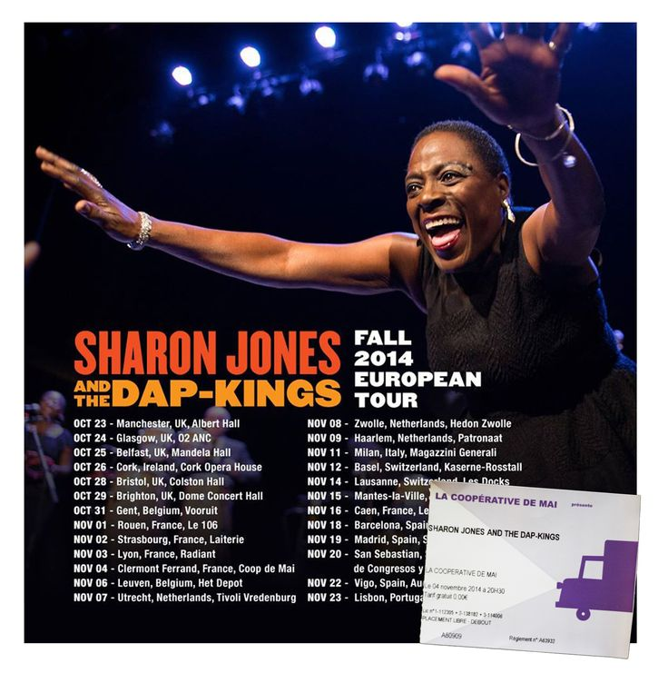 sharon jones & the dap kings european tour 2014 2