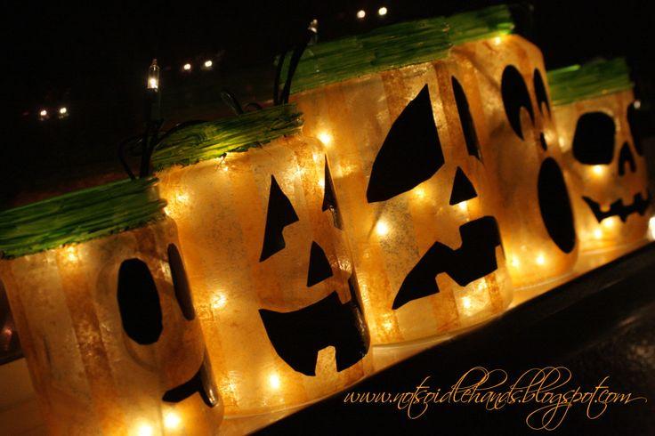 Freecycle Friday - Glowing Jack O'Lanterns By: NotSoIdleHands.com
