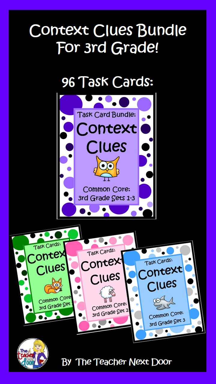 https://cute766.info/context-clues-task-card-bundle-for-3rd-grade-context/ [ 91 x 1280 Pixel ]