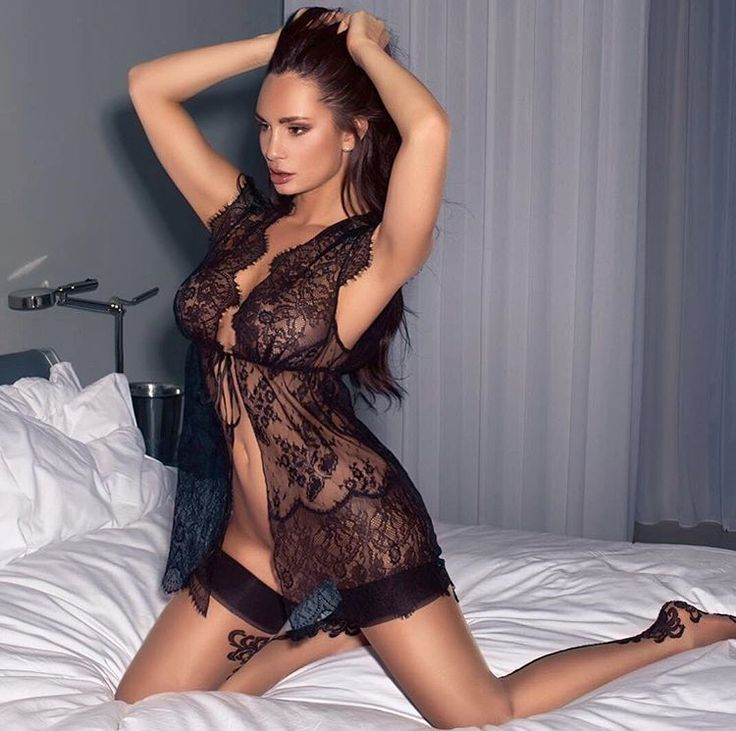 Rosie Roff (British model) in sensual black lingerie and beautiful stockings with a pretty little lace, hot legs.