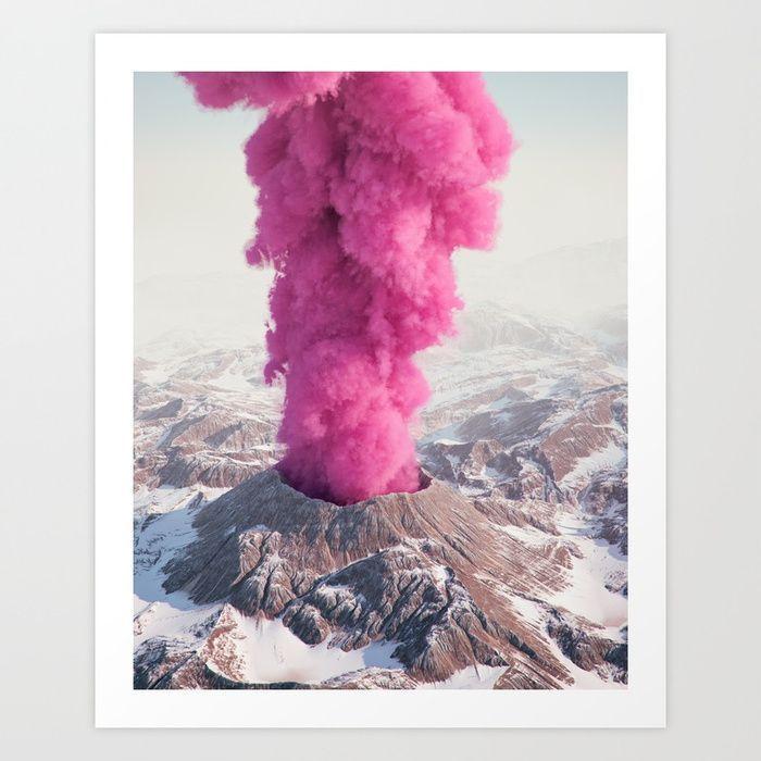 Pink Eruption by Filip Hodas  •  #art #volcano #eruption #modernart #contemporaryart #photography