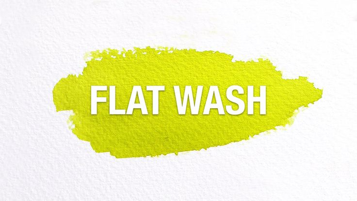 Watercolor Tips: Flat Washes