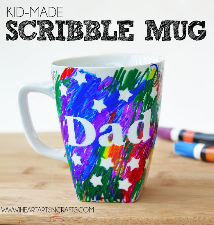 Father's Day Kid-Made Scribble Gift Mug