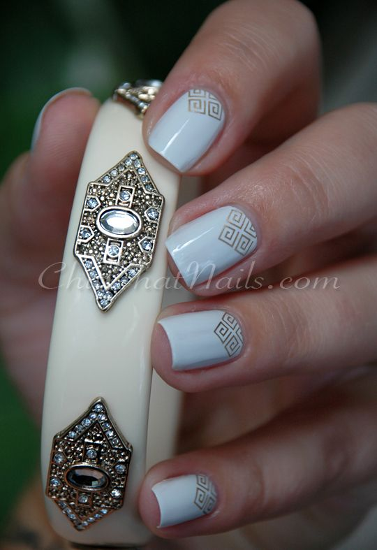 ChitChatNails » Blog Archive » Same old, same old and Gold #nails