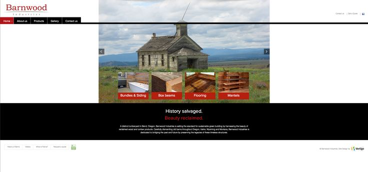 LuLish Design was hired to develop this custom wordpress responsive website for Barnwood Industries, a green builder specializing in rescuing antiquated barn wood and restoring it into beautiful beams, mantels and flooring for your home or next construction project. http://barnwoodindustries.com/