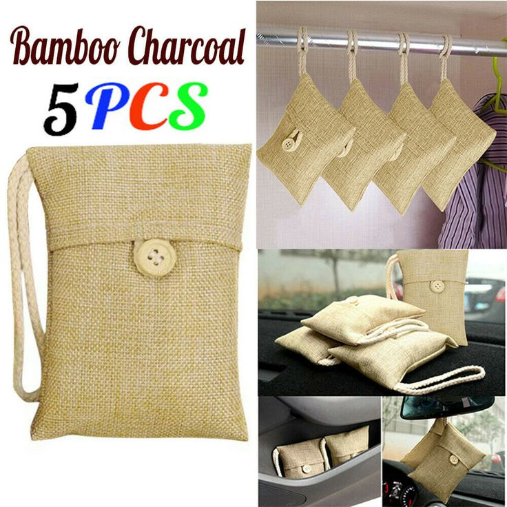 20pcs Bamboo Charcoal Activated Carbon Air Freshener Bag