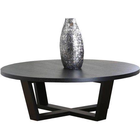 Devon & Claire Barberry Round Espresso Coffee Table