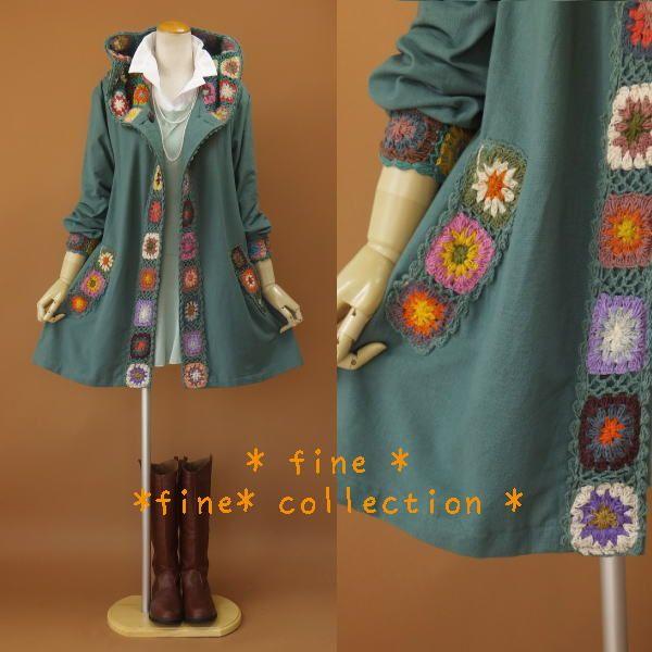 crochet motif jacket