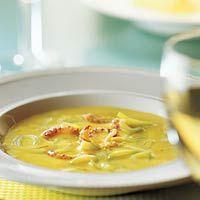 Recept - Saffraancrème-soep met rivierkreeftjes - Allerhande
