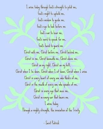 "Image result for prayer of St Patrick ""As i arise"
