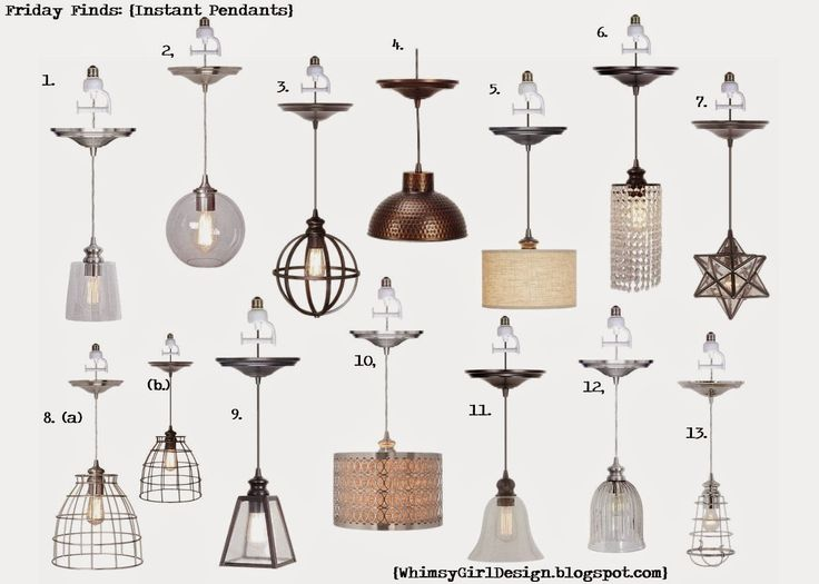 Whimsy Girl Design ~Friday Finds: Recessed Lighting Conversion Pendants.  Just screw the pendant into the recessed light like a regular bulb.  Links included!