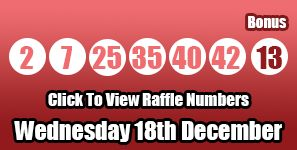 Here are the #lotto results for Wednesday 19th December after a double rollover one very lucky winner takes home the full jackpot: http://lotterypod.com/lotto-raffle-results-18th-december/