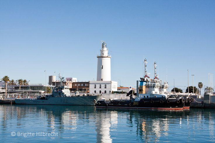 #Málaga #Lighthouse #Port / All places of interest you'll find here: http://www.amazon.co.uk/M%C3%A1laga-Capital-Coast-Brigitte-Hilbrecht/dp/1517300533/ref=sr_1_1?s=books&ie=UTF8&qid=1456574193&sr=1-1&keywords=malaga