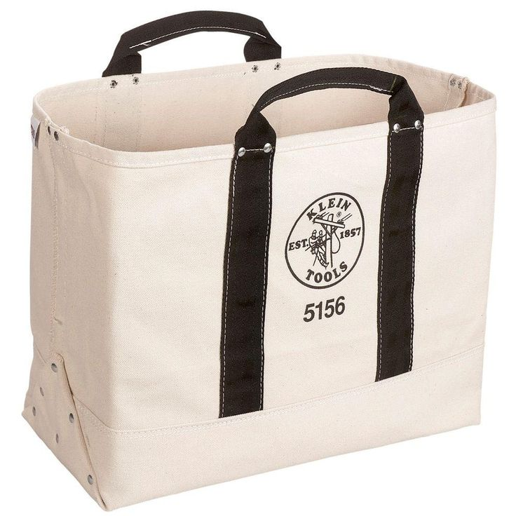 9 in. Canvas Tool Bag, Beige