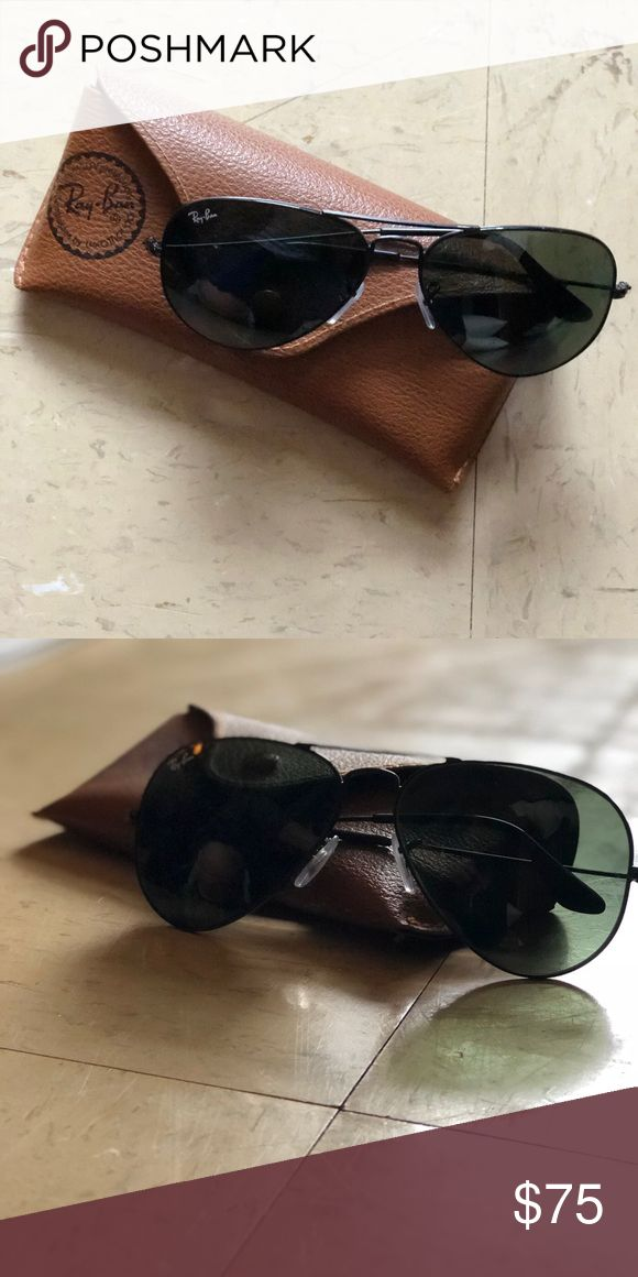 Ray Ban aviators All black, no scratches, comes with case Ray-Ban Jewelry