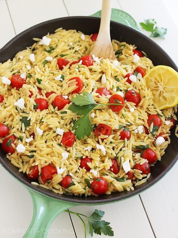 The Comfort of Cooking » One-Pan Greek Orzo with Tomatoes and Feta