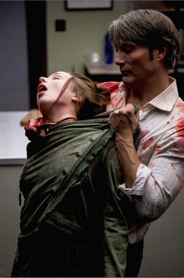 Hannibal & Abigail (Hannibal felt so betrayed by Will after he smelled Freddie on him; in Hannibal's eyes, Will had done the worst possible thing he could've done to him. Hannibal had let his guard down with Will, had let Will *see* him, and to be betrayed by the one person who truly knew him was heartbreaking. Hannibal acted out the way most people do: by trying to hurt the other person as badly as they hurt you. And this scene was the worst possible thing he could've done to Will.)