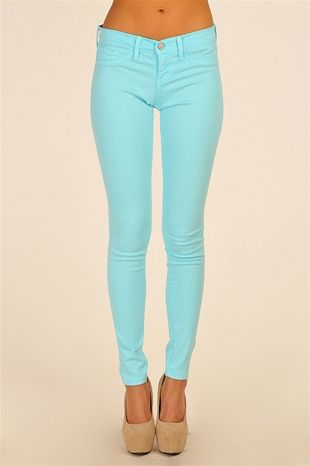 these WILL be mine!!Baby Blue, Aqua Skinny, Nude Shoes, Blue Skinny, Skinny Jeans, Colors Jeans, Tiffany Blue, Blue Jeans, Nude Heels