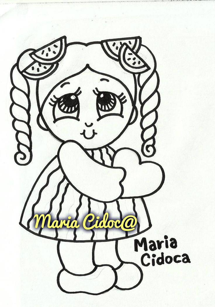 menina vestida de melancia