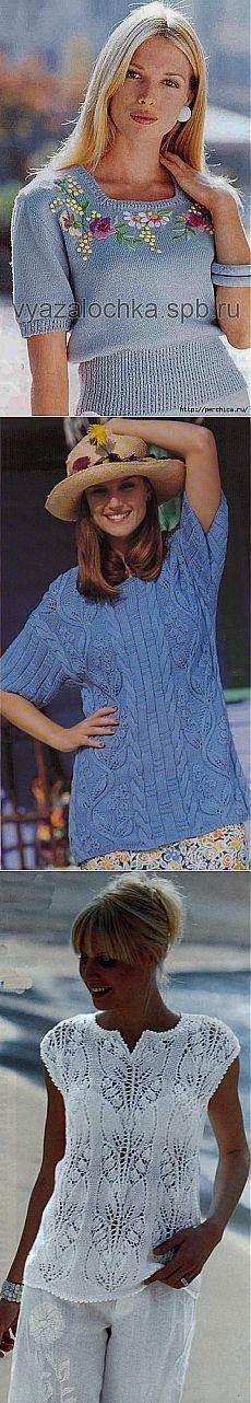 Весеннее великолепие связанное спицами - подборка женских кофточек.