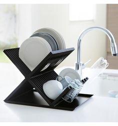 Range vaisselle cuisine - egouttoir vaisselle noir