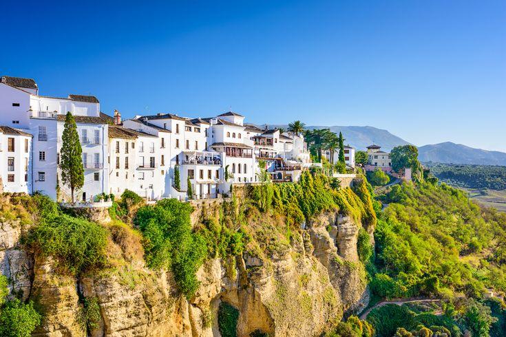 Ronda, Spain old town cityscape on the Tajo Gorge. Region - Andalucia