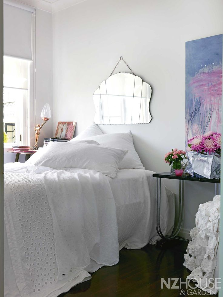 A feminine bedroom in Mission Bay